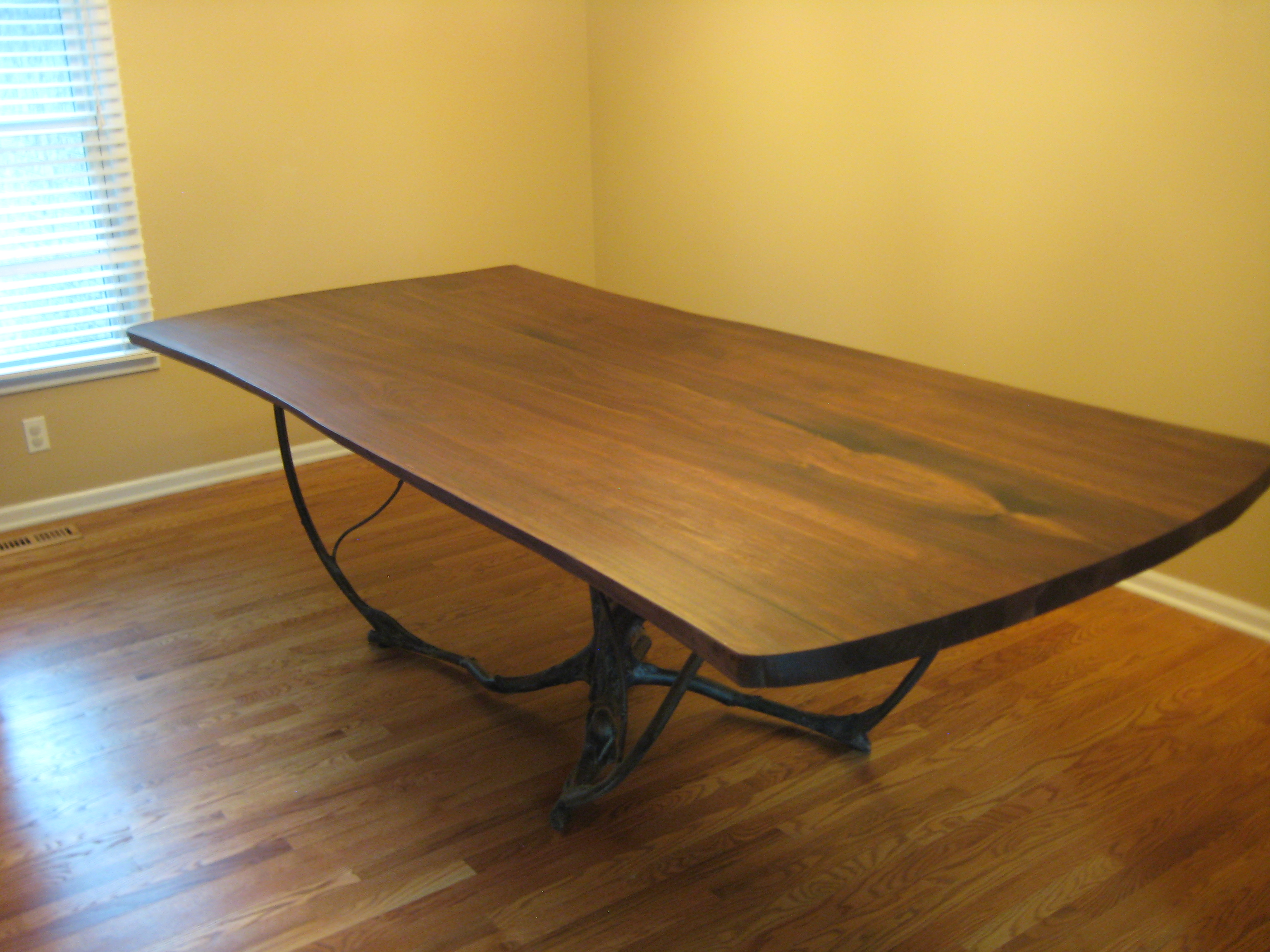 Dining Table In Reclaimed Black Walnut.