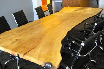 Large conference table in reclaimed wood