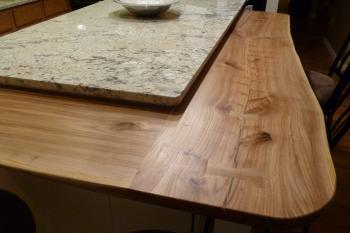 Island in elm and granite